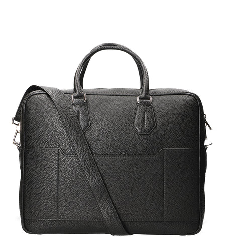 Bally Plain Textured Briefcase