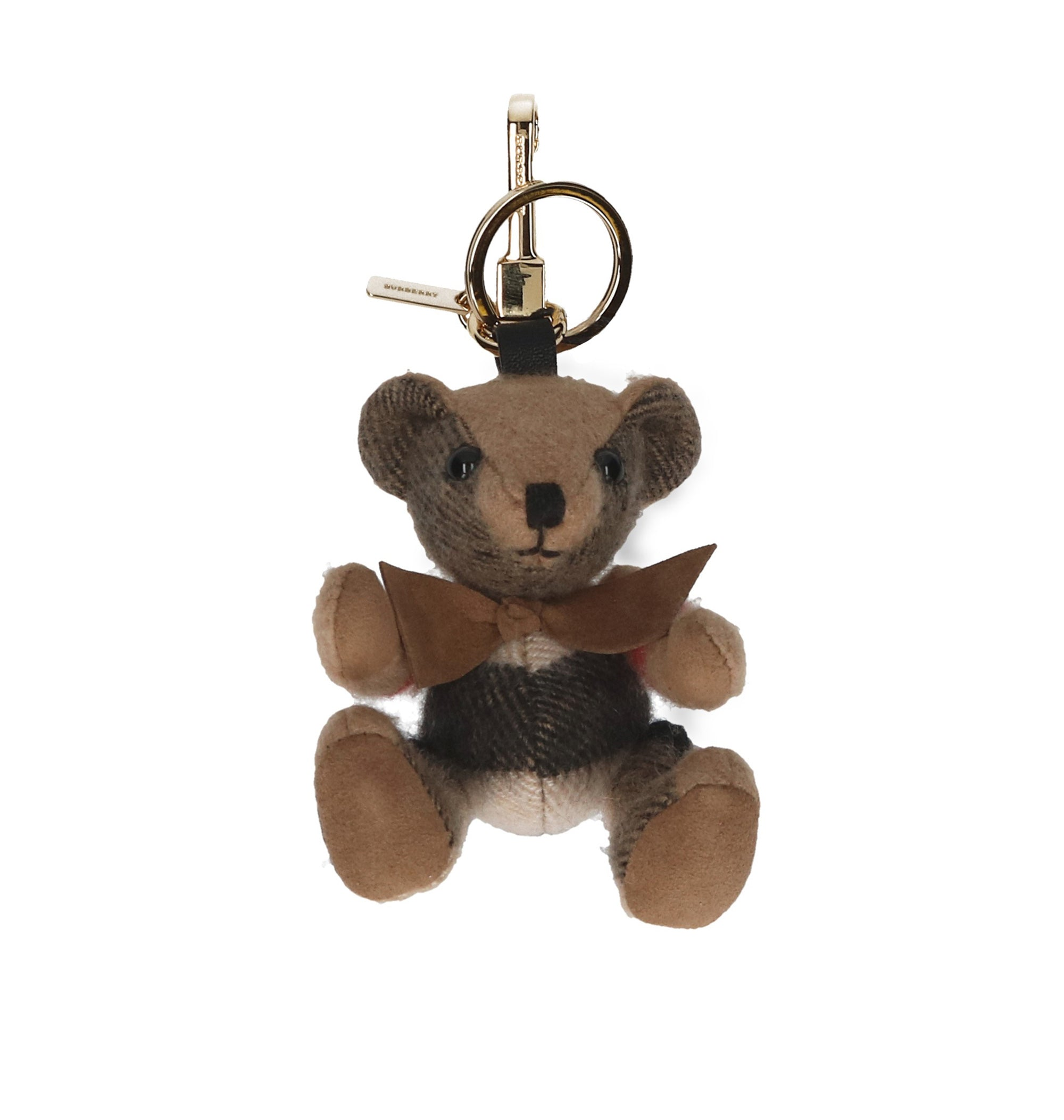 BURBERRY CHECK THOMAS BEAR KEYRING