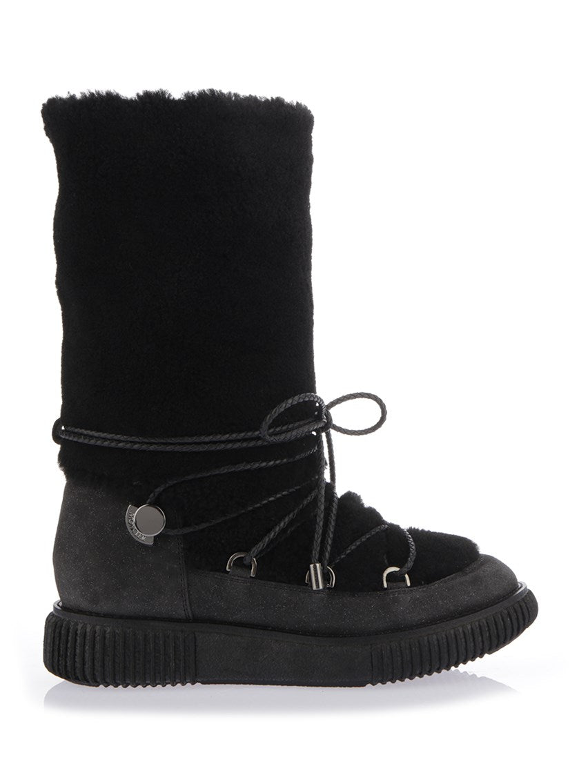 MONCLER SHEARLING SNOW BOOTS