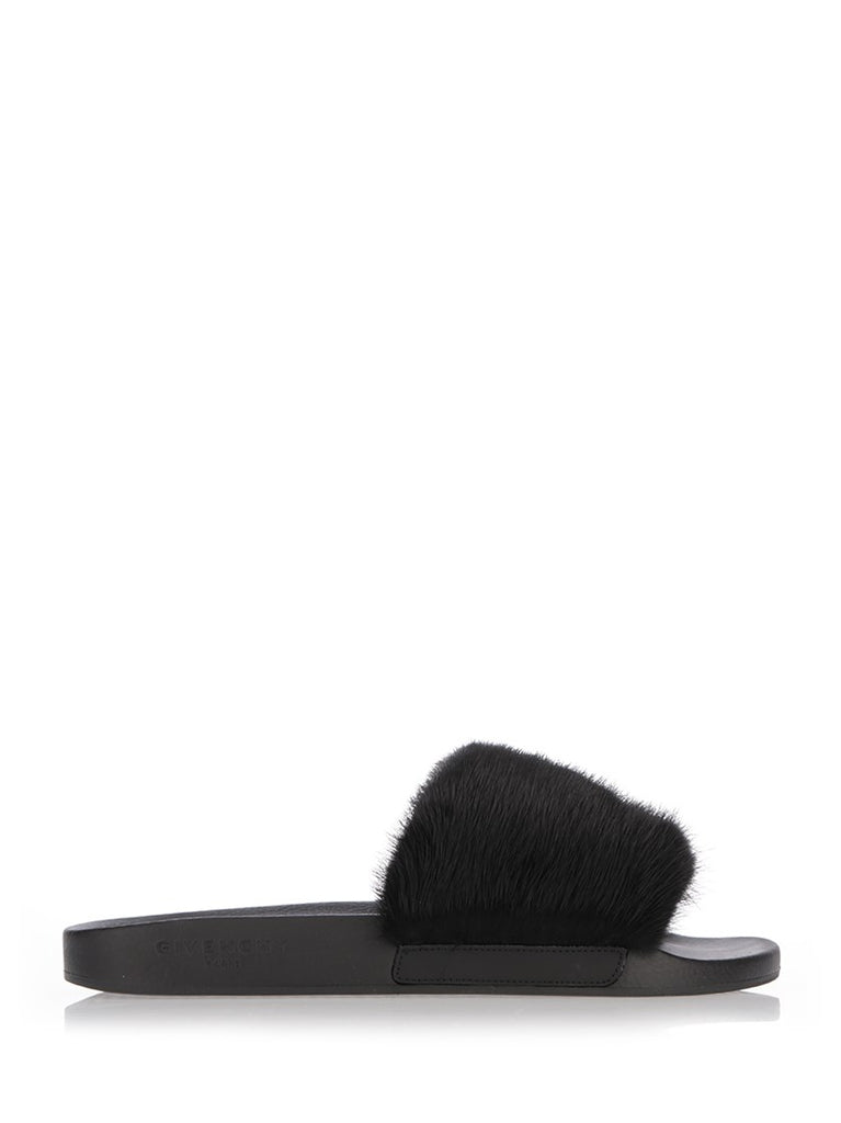 Givenchy Mink Fur Slippers
