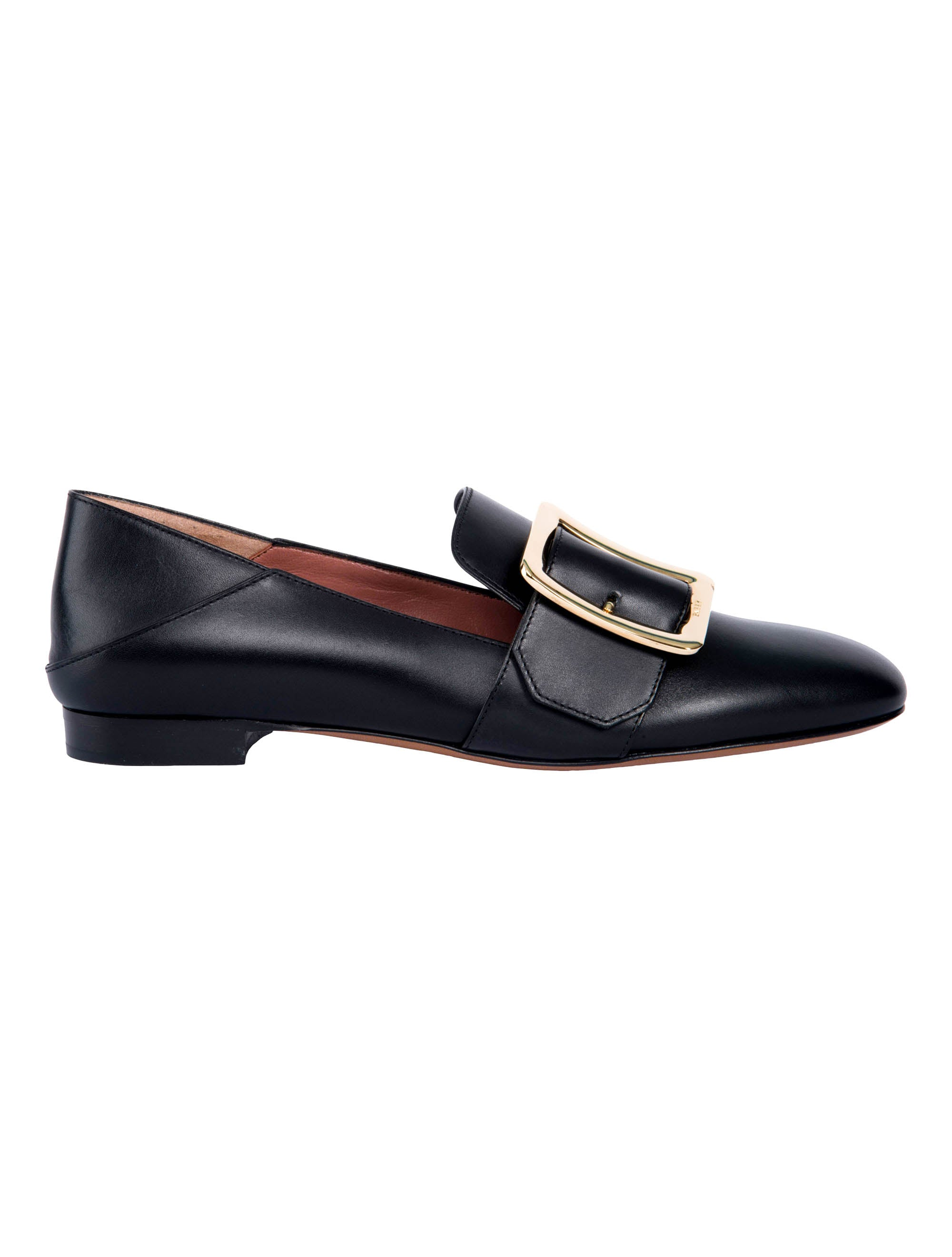 Bally Janelle Buckle Loafers, Black