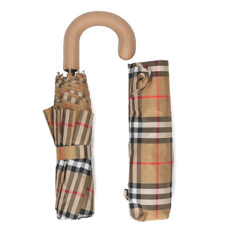 Burberry Trafalga Check Foldable Umbrella