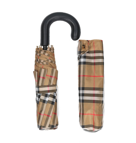 Burberry Checked Classic Foldable Umbrella