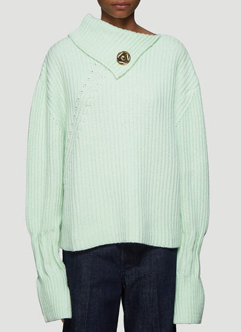 JW Anderson Popper Fastening Chunky Knit Sweater