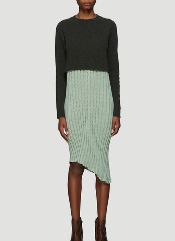 JW Anderson Contrast Panel Pleated Dress