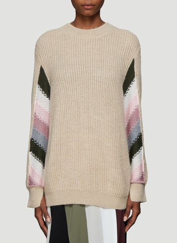 JW Anderson Stripe Sleeve Knitted Sweater