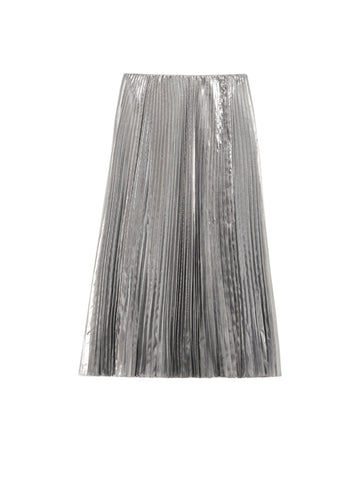 Balenciaga Pleated Midi Skirt