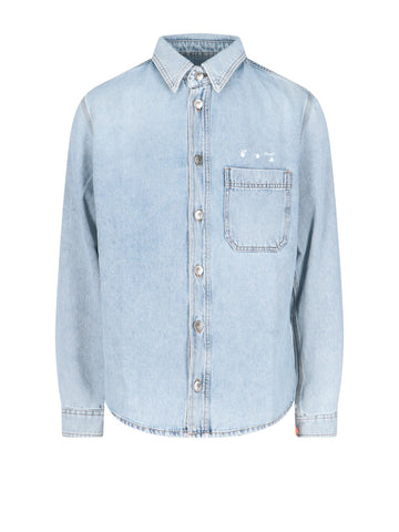 Off-White Bleach Logo Denim Shirt