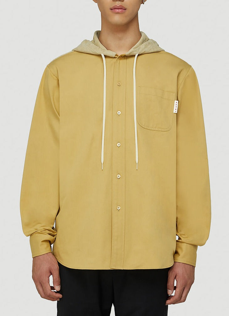 Marni Drawstring Hooded Over In Yellow