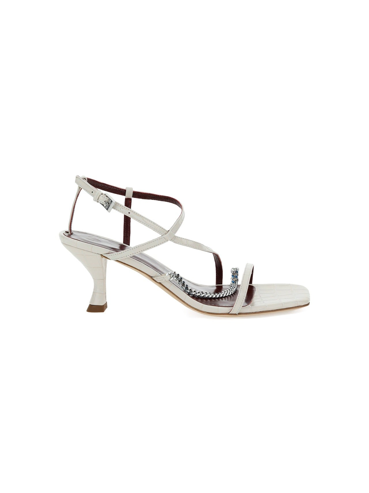 Staud STAUD CHAIN LINK ANKLE STRAP SANDALS