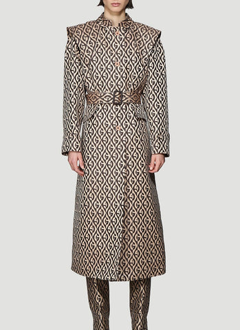 Gucci G Rhombus Trench Coat