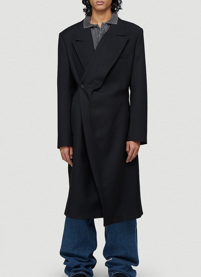 Y/project Coats Y/PROJECT CLASSIC TWISTED LAPEL COAT