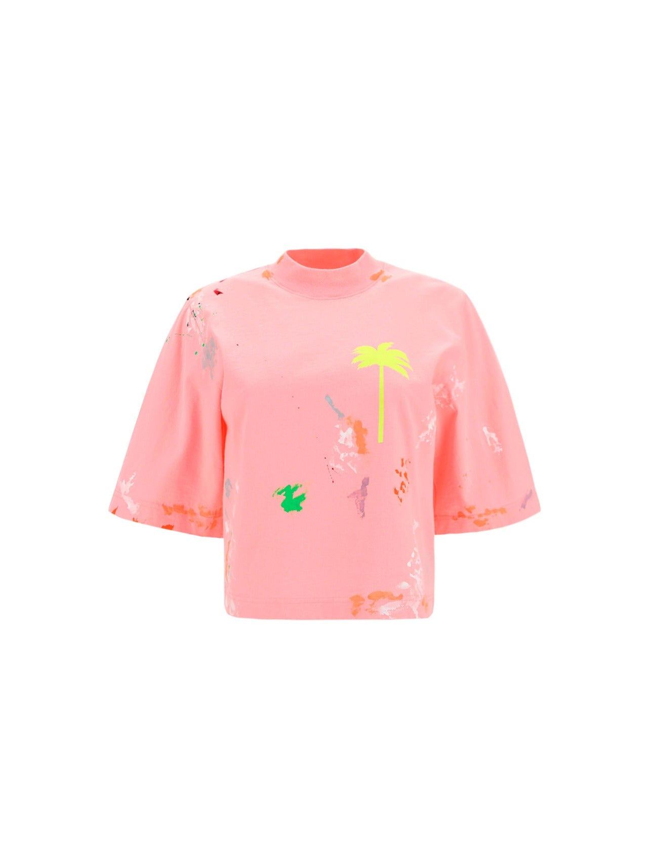 Palm Angels Cottons PALM ANGELS PALM TREE CROPPED T