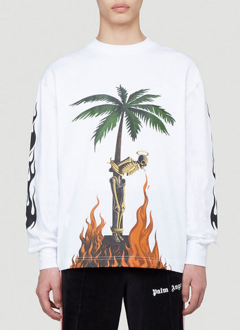Palm Angels Printed Long Sleeve T-Shirt