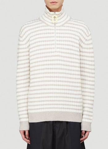 JW Anderson Ribbed High Neck Sweater