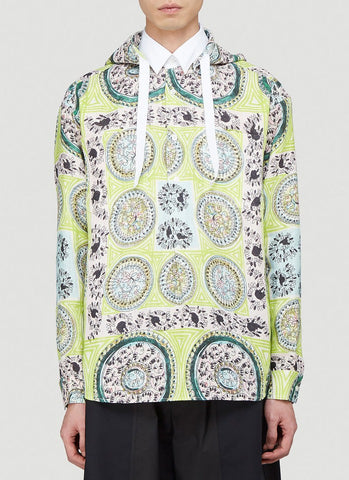 JW Anderson Mystic Paisley Print Hooded Shirt