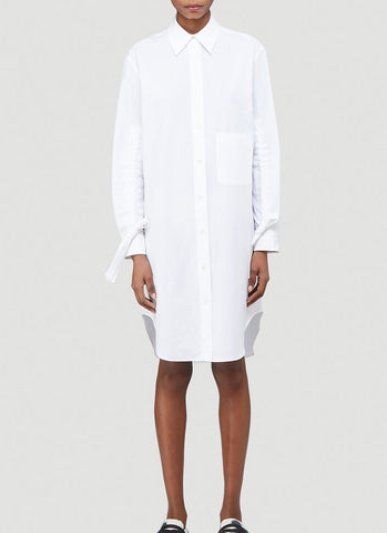 JW Anderson Gathered Sleeve Shirt Dress