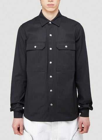 Rick Owens UFW Print Patch Pocket Shirt