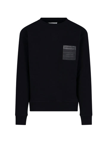 Maison Margiela Stereotype Patch Round-Neck Sweatshirt