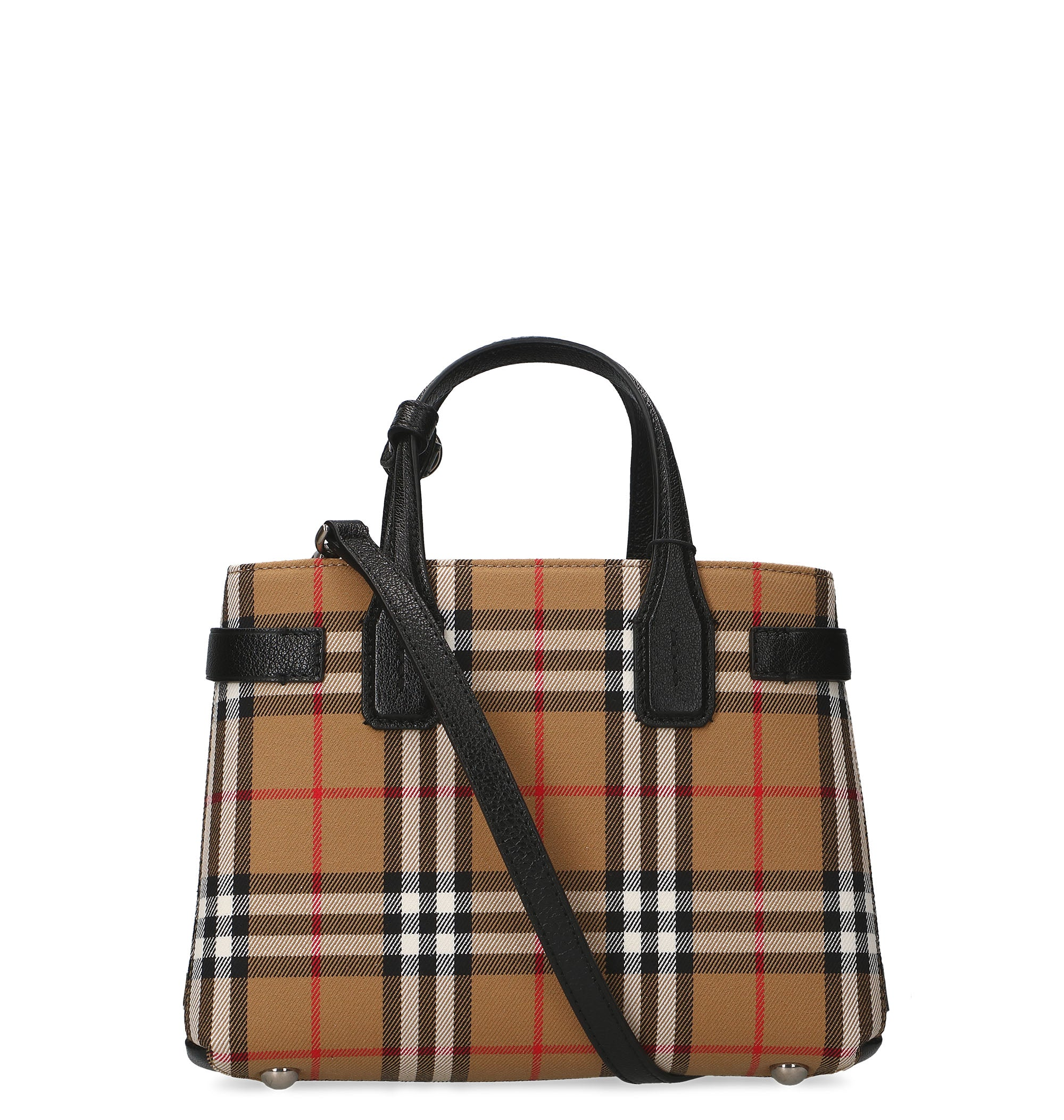 BURBERRY BURBERRY SMALL BANNER TARTAN TOTE BAG. Photo  CETTIRE fe7af5bd234cd