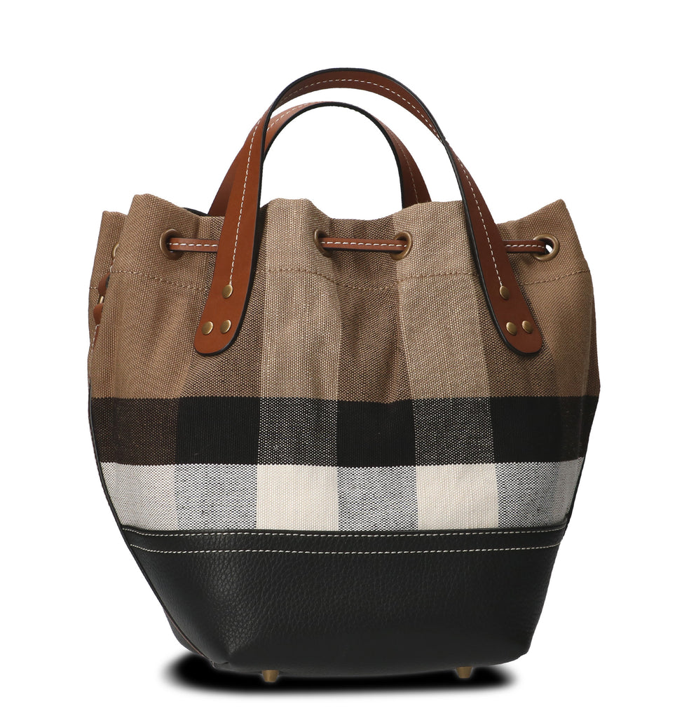 c52a46e01a7a Burberry Small Heston Check Bucket Bag – Cettire