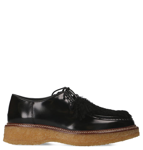 Tod's Fur Detail Lace-Up Shoes