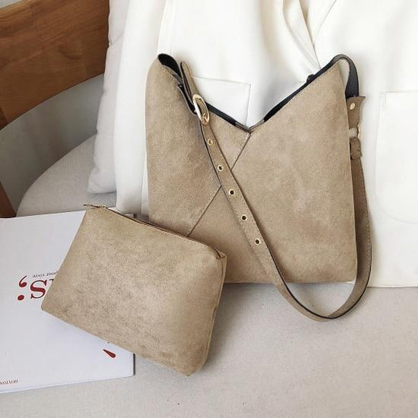 Elie Top-Handle Bags LEFTSIDE Official Store Nude Suede