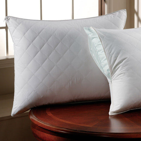 QUILTED SATEEN PILLOW PROTECTOR