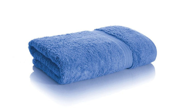 blue bamboo towels