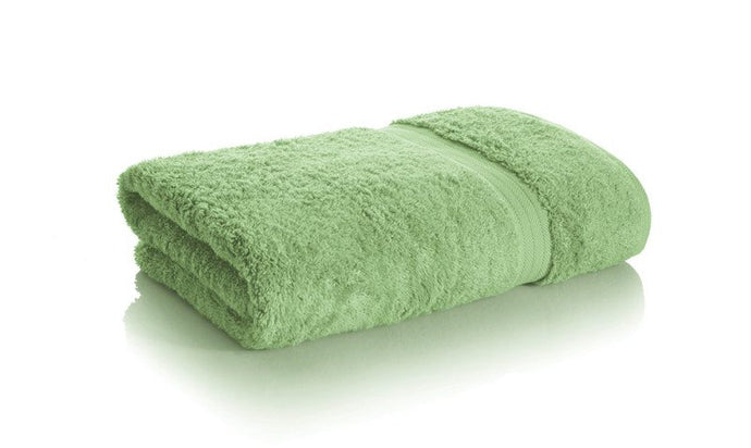 Kiwi Green bamboo towels