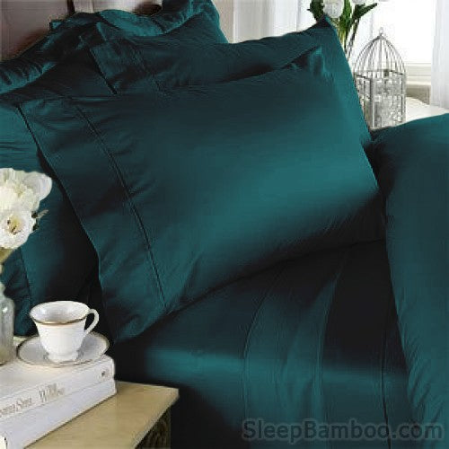 Teal Bamboo Pillowcase Set (2)