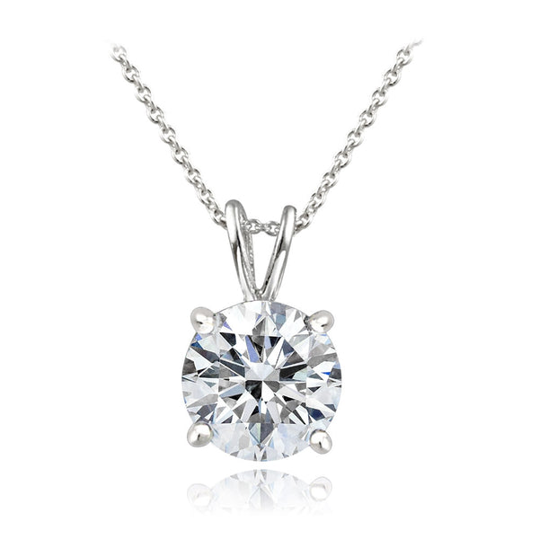 Platinum-Plated 2 ct CZ Necklace