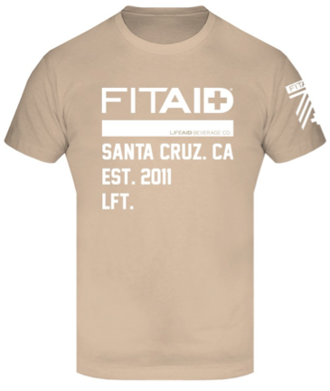 FITAID MENS SANTA CRUZ T-SHIRT - CREAM