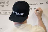 FITAID BLACK SNAP BACK HAT - 3D STANDARD
