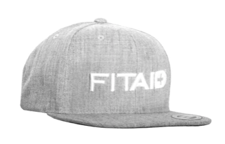 FITAID GREY SNAP BACK HAT - 3D STANDARD