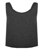 FITAID LADIES CROP TANK - DARK GREY