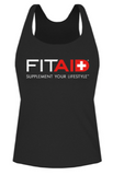 FITAID LADIES TANK - BLACK