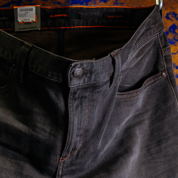 Pipe Denim Super Stretch: Charcoal