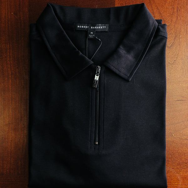 Pitch Black Zipper Polo