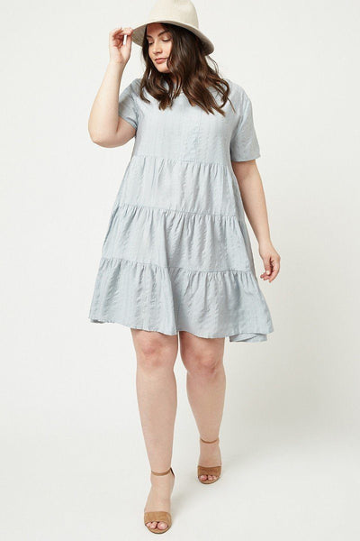 Metallic Stripe Swing Dress