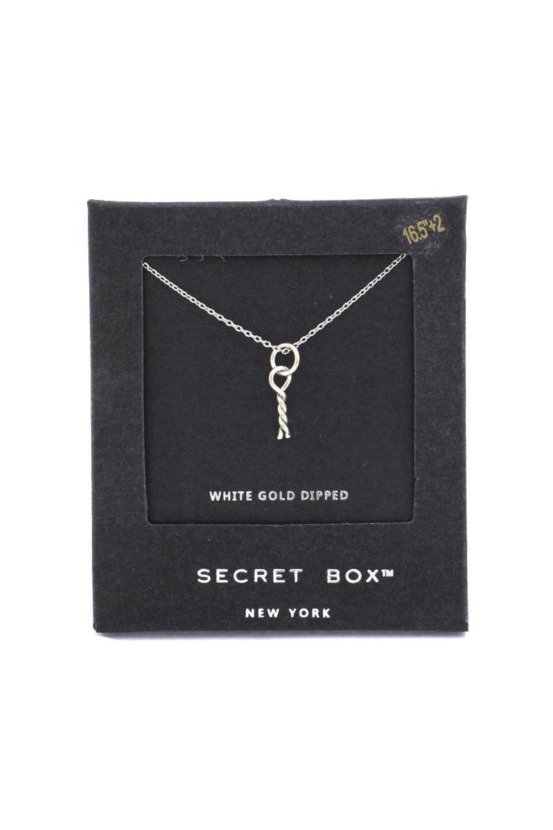 Secret Box Twisted Knot Charm Necklace