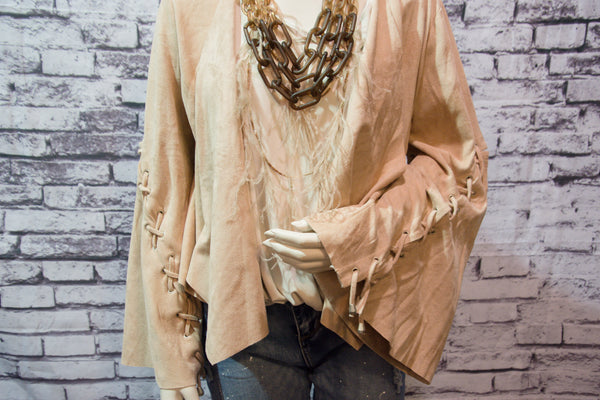 Flare Criss Cross Sleeve Jacket