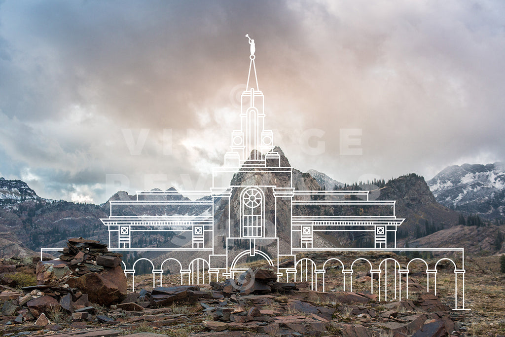 Bountiful Temple | Cottonwood Canyon Print