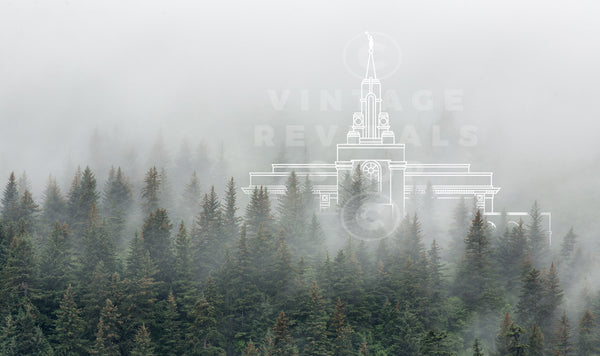 Bountiful Temple | Wasatch Mountains Print