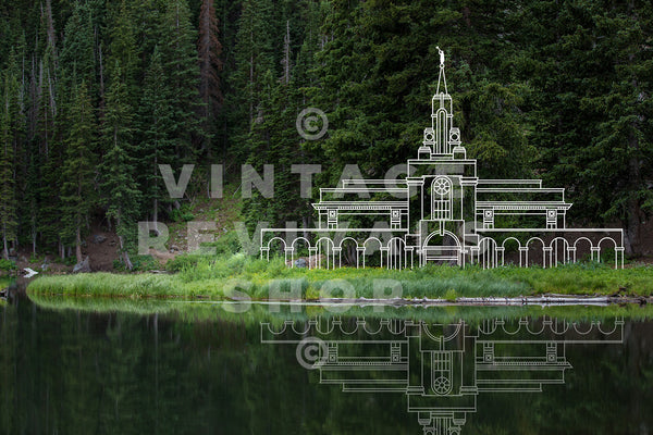 Bountiful Temple | Wasatch Mountain Lake Print
