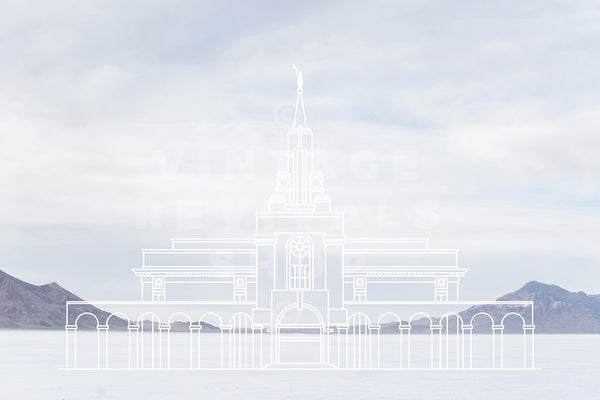 Bountiful Temple | Bonneville Salt Flats Print