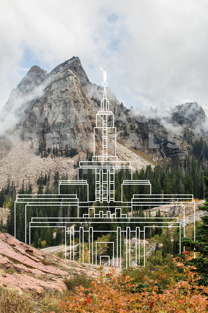 Draper Temple | Big Cottonwood Canyon Print