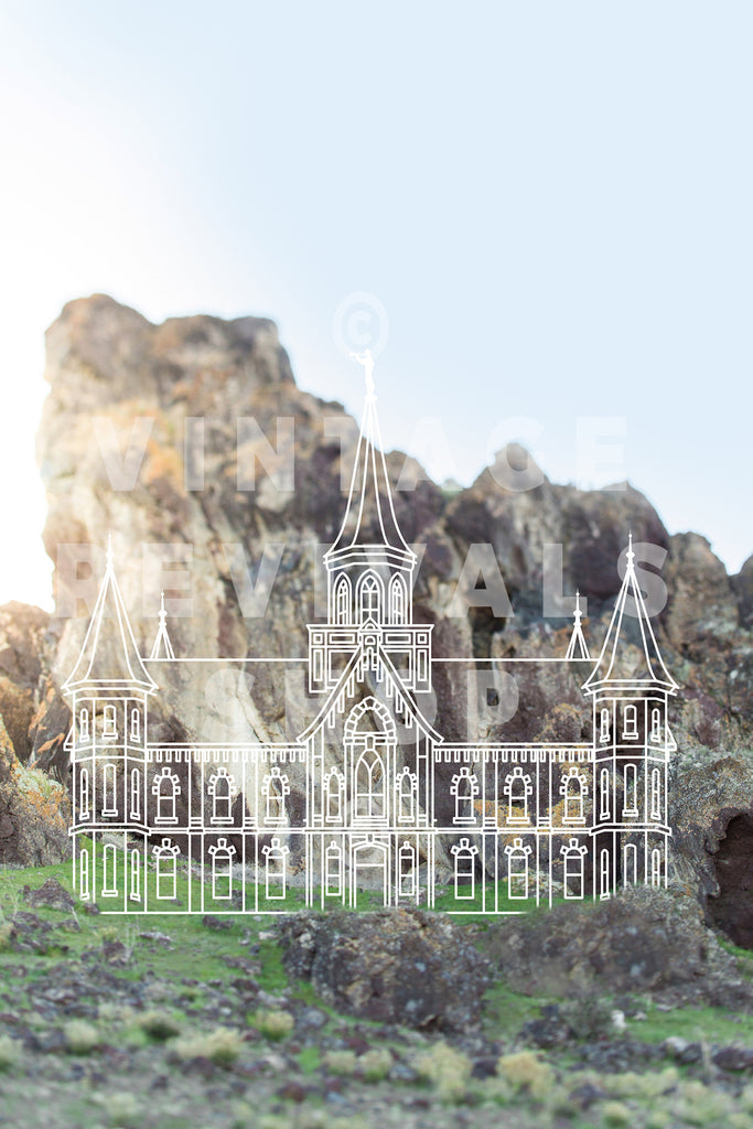 Provo City Center Temple | Mountain Print
