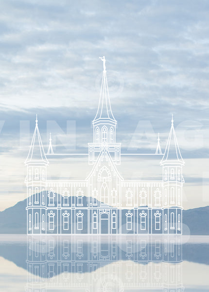 Provo City Center Temple | Bonneville Salt Flats Print