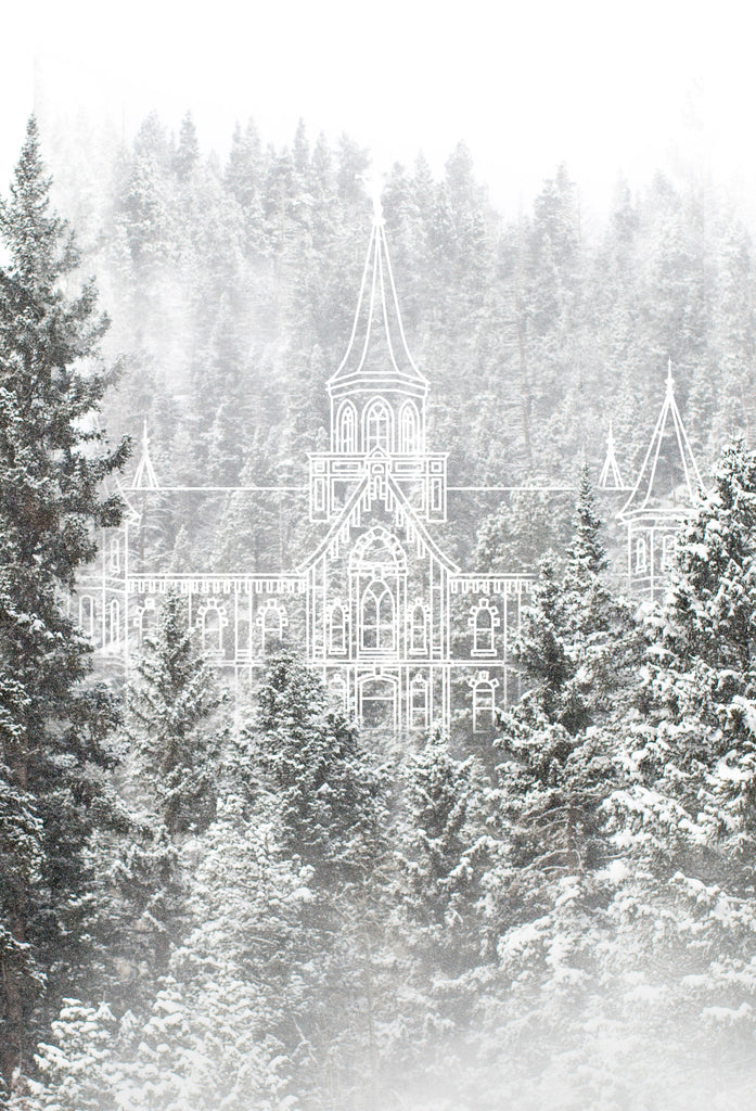Provo City Center Temple | Snowy Wasatch Mountains Print